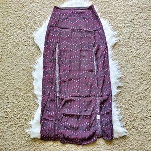 Garage Black and Pink Tribal Print Maxi Skirt